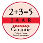 2+3=5 jaar garantie volgens HONDA voorwaarden