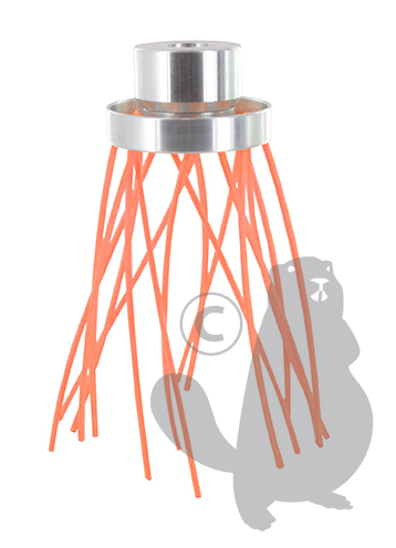 ALUMINIUM ONKRUIDBORSTEL MET 16 x 3,3mm draad